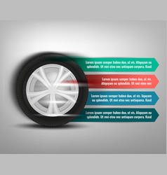 tyre banner image vector image