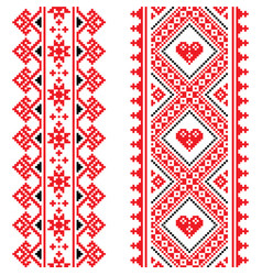 ukrainian and belarusian seamless pattern vector image