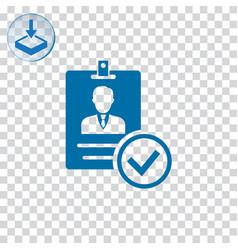 Verified id card icon vector