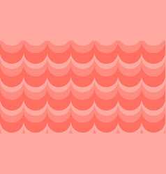 Wavy background in coral shades vector