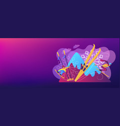 Winter extreme sports concept banner header vector