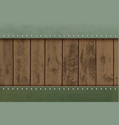 wooden textured panels on a metal plate vector image