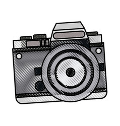 drawing camera photo picture travel equipment vector image