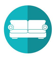sofa comfor furniture shadow vector image