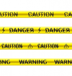 tapes of caution vector image vector image