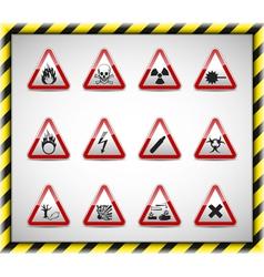 Triangel danger sign set vector image