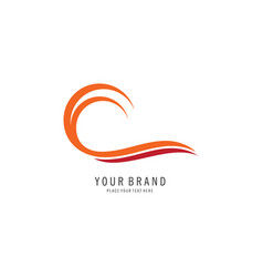 abstract surf logo vector image