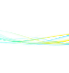 bright fresh colorful swoosh lines flow modern vector image