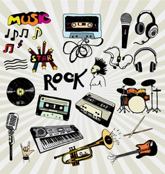 music elements colorful vector image