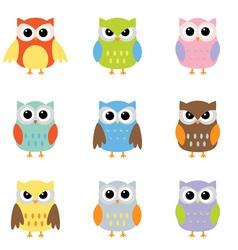 owl cartoons vector image vector image