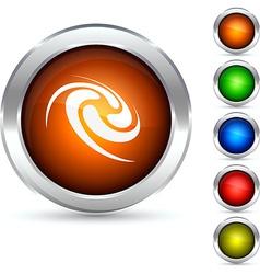 Swirl button vector image