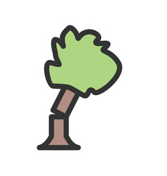 Tree falling vector