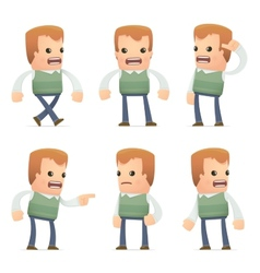 universal characters in different poses genius vector image vector image