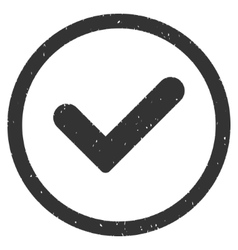 Yes Icon Rubber Stamp vector image