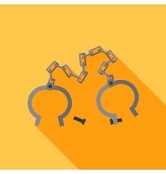 Flat shackles open vector
