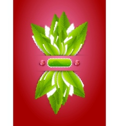 Green leaves nature background vector image vector image
