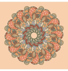 retro ornamental round lace pattern vector image