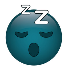 Sleepy emoticon funny icon vector