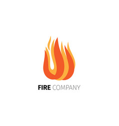 fire flame company logo template vector image