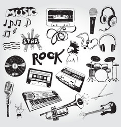 music elements vector image