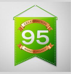 ninety five years anniversary celebration design vector image vector image
