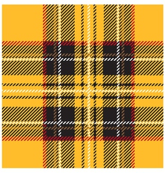 Traditional seamless yellow tartan pattern vector