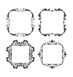 vintage style square frames collection decorative vector image
