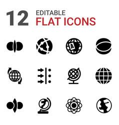 12 orbit icons vector