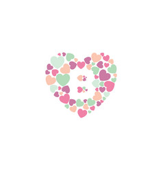 A simple and romantic heart b design vector