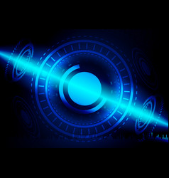 Abstract digital technology color background vector