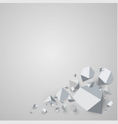 abstract polygonal geometric background vector image
