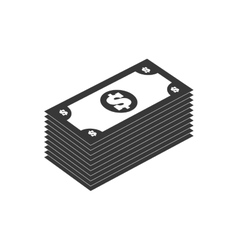 bills silhouette money icon graphic vector image