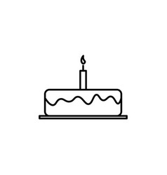 Birhday cake icon vector