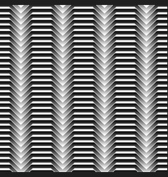black and white horizontal zigzag lines abstract vector image