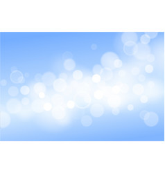 blue christmas background with bokeh lights vector image