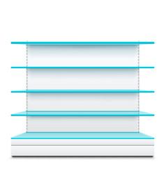 blue glass shelves vector image