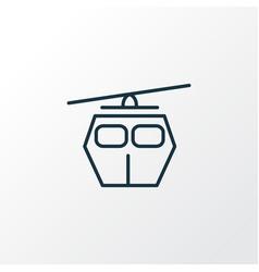 cable car icon line symbol premium quality vector image