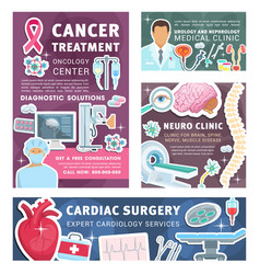 cancer urology and nephrology medical posters vector image
