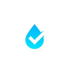Check water logo icon design vector