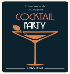 cocktail party invitation vector image