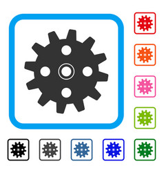 cogwheel framed icon vector image vector image