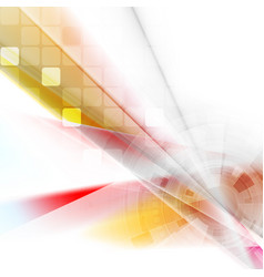 colorful technology hud gear abstract background vector image
