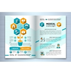 Design medical brochure template A4 size Catalog vector