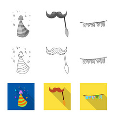 design of party and birthday sign vector image