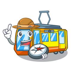 Explorer electric train toys in shape mascot vector