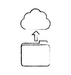 figure database storage icon image design vector image