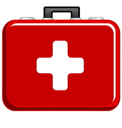First aid icon vector