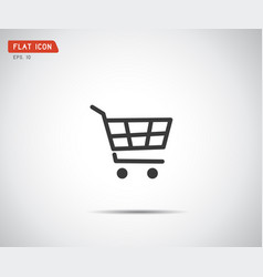 flat shopping cart icon logo design vector image