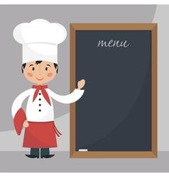 Funny chef vector