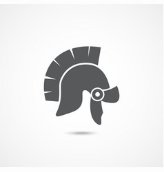 gladiator helmet icon vector image